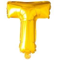 41 cm guld folie balloner bogstav T