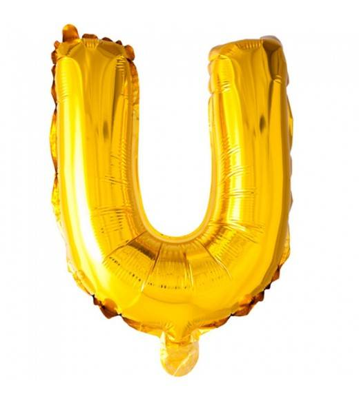 41 cm guld folie balloner bogstav U
