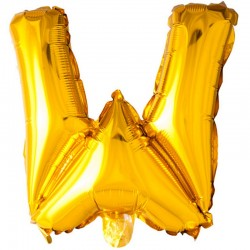 41 cm guld folie balloner bogstav W