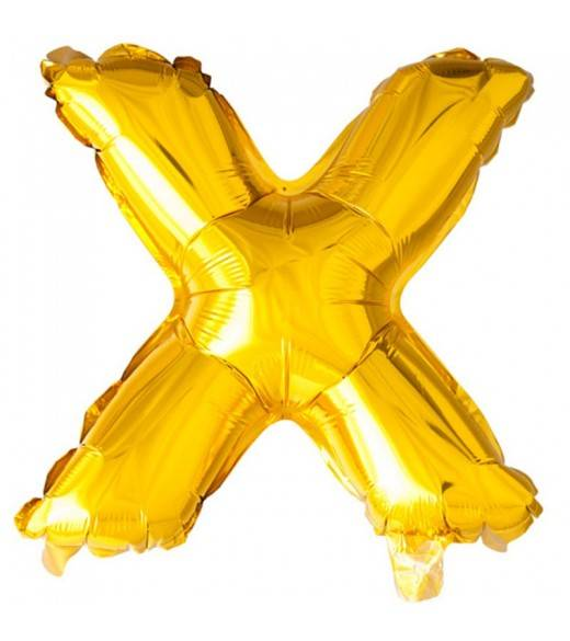 41 cm guld folie balloner bogstav X