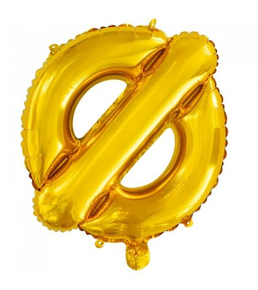 Guld Folie Ballon Bogstav Ø 41 cm