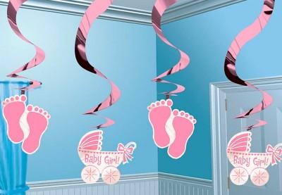 Barnedåbs guirlander lyserøde