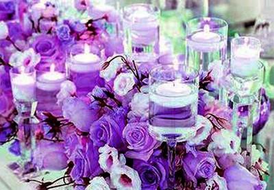 Silkeblomster til konfirmationspynt