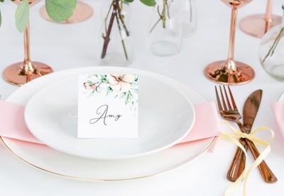 Bordkort og glaskort med motiv