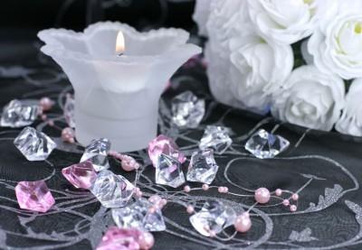 Krystaller og pynte diamanter til borddækning I Køb her