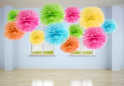 Papir Pom Pom | Brug papir pomponer som festligt pynt og dekoration