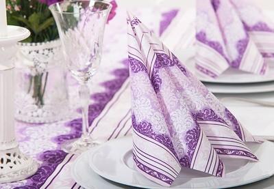 Tekstilservietter med tryk