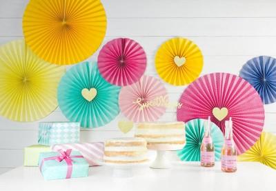 Papir rosetter | Køb rosetter af papir som pynt til din næste fest her