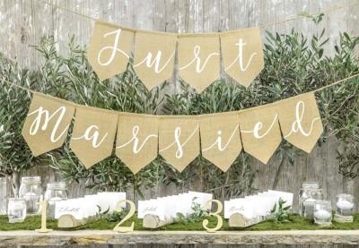 Rustik bryllupspynt