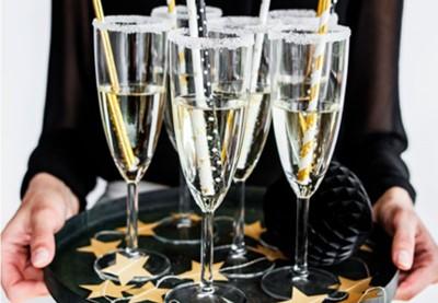 Engangs-champagneglas i plastik