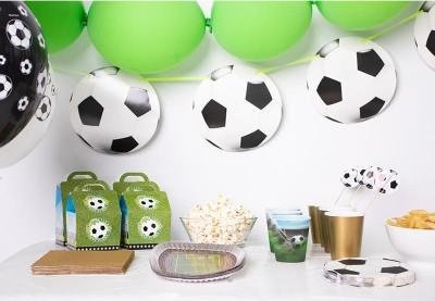 Fodbold pynt til konfirmation | Køb fodboldtema festpynt