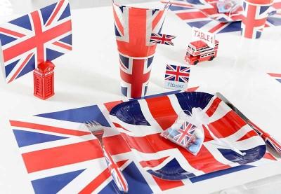 Engelsk temafest | Bordpynt & festpynt til britisk fest