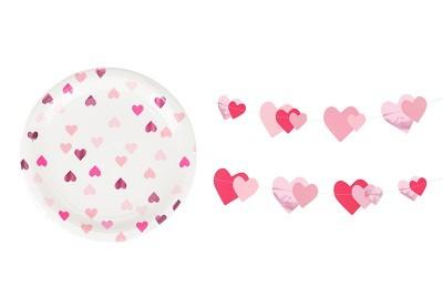 Pink hjerter til pigefødselsdag