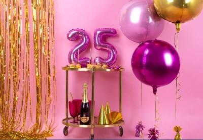 25 års fødselsdag pynt | Køb flot fødselsdagspynt til 25 år her