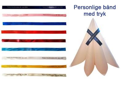 Bånd med tryk | Personliggør en gave eller en indbydelse med et bånd med tryk | Smukke farver