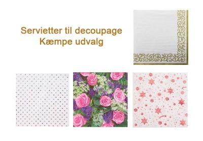 Decoupage servietter