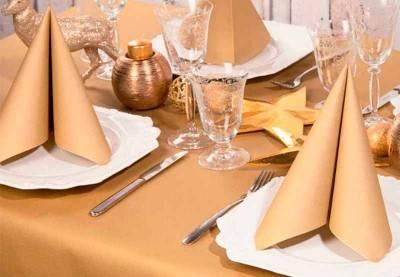 Guld servietter ✔️ Stort udvalg ✔️Køb servietten her ✔️