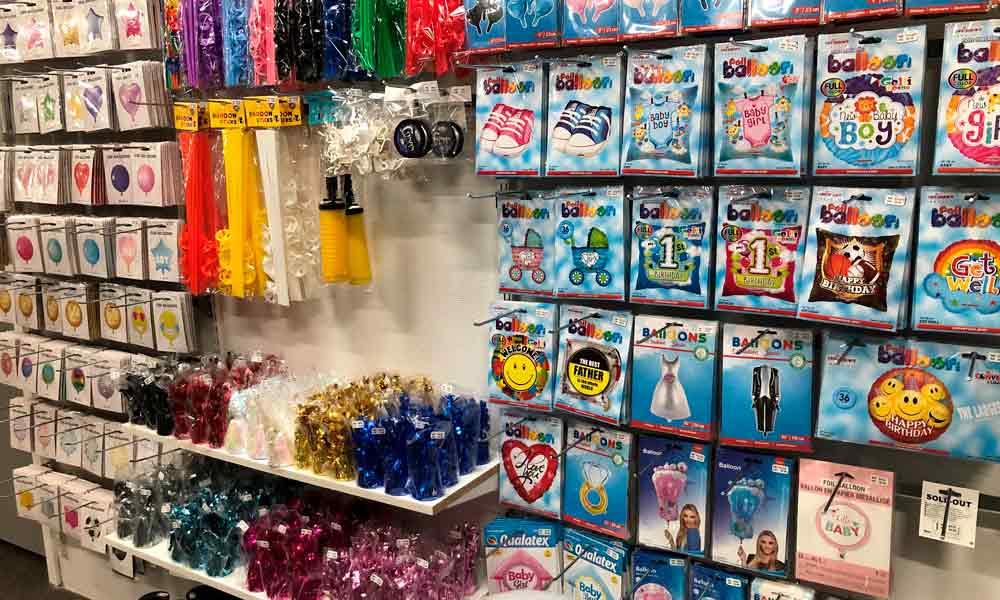 Rigtig mange folie- og latex balloner