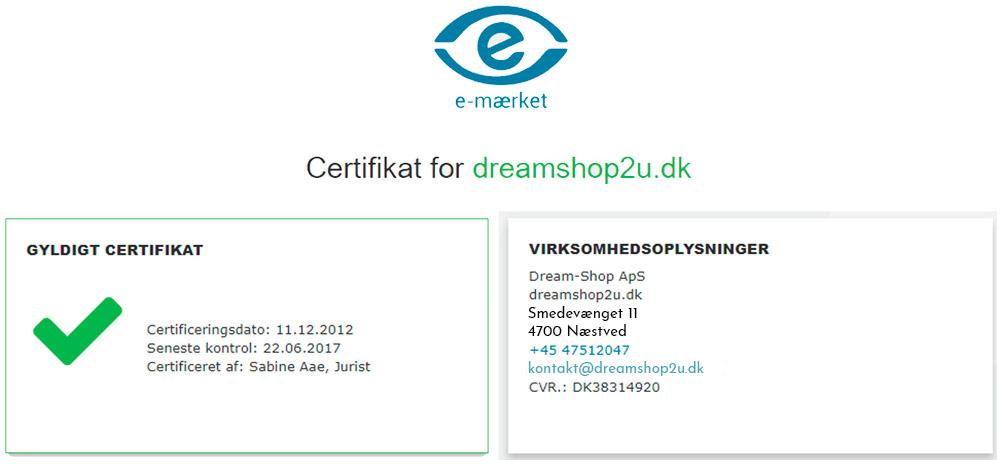 Certificering e-mærket