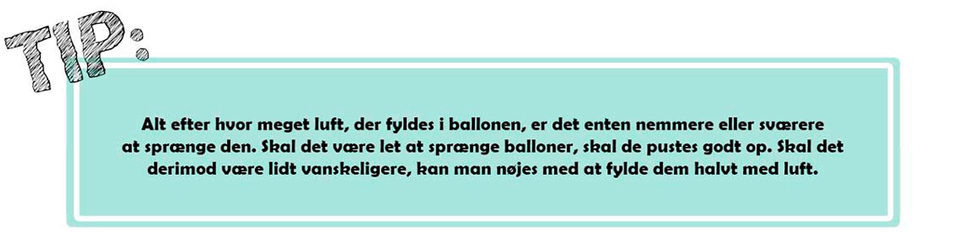 Ballon tips til ballondans